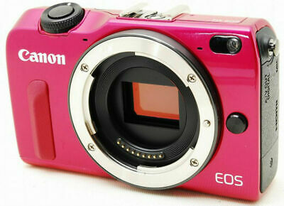 Canon EOS M2 18.0 MP Digital Camera - pink / red body w. accessories *superb