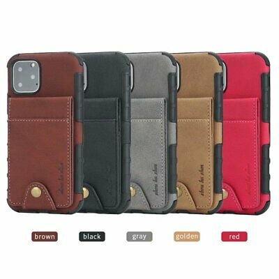 For iPhone 11 Pro Max XS XR 6 7 8 Plus Case Leather Card Wallet Shockproof Cover