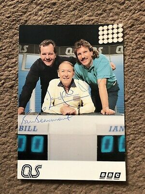 Bill Beaumont/ Ian Botham (A Question Of Sport) Vintage Signed Bbc Cast Card