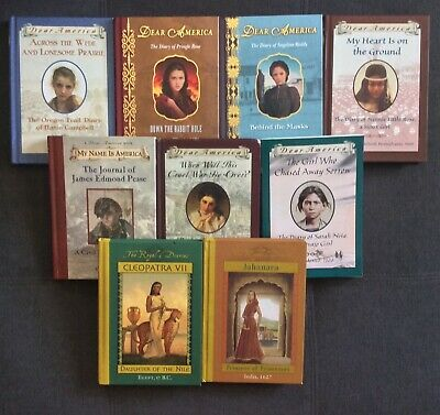 Lot of 9 Dear America Royal Diaries Books Hardcover Scholastic Books Free Ship