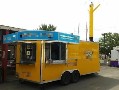 2017 - 8.5' x 20' Quality Food Pizza Soft Serve Concession Trailer for Sale in W