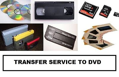 Transfer of Video Cassettes ,Camcorder Tapes, Memory sticks. Sd cards  to DVD