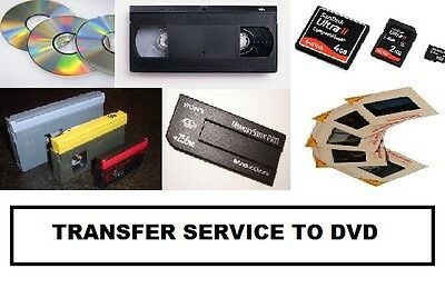 Transfer of Video Cassettes , all forms of Camcorder Tapes,  to DVD