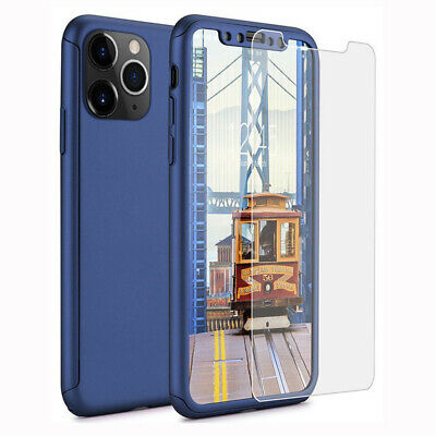 Hybrid 360° Shockproof Case + Tempered Glass For iPhone 11 Pro Xs Max Xr Xs 8 7+