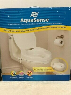 Outstanding Aquasense Raised Toilet Seat With Lid White 4 Inches Box Forskolin Free Trial Chair Design Images Forskolin Free Trialorg