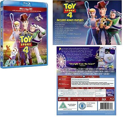 TOY STORY 4 (2019) Animated Adventure/Comedy Sequel - NEW RgFree 3D + 2x BLU-RAY