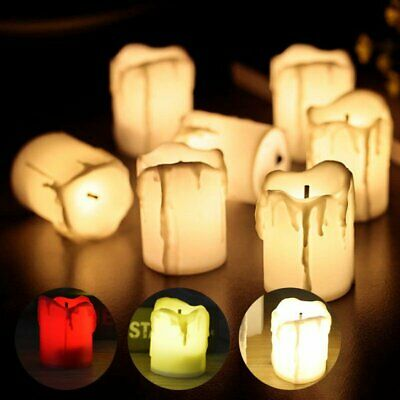 24PCS Flameless LED Tea Light Candles Battery Operated Tealights Wedding Party