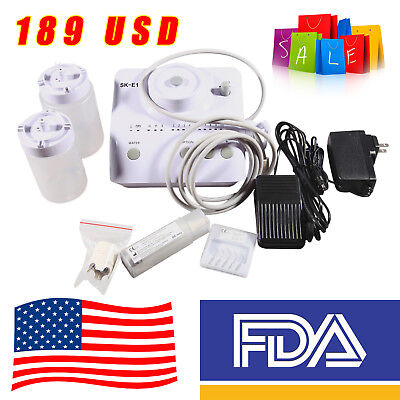FDA Portable Dental Ultrasonic Piezo Scaler Bottles Fit EMS WOODPECKER FDA SK-E1