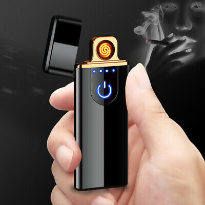 Charging lighter Touch induction windproof electronic ultra-thin USB cigarette