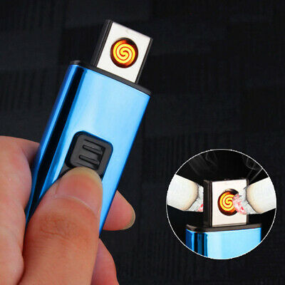 Electroplating mini Small double-sided cigarette lighter USB rechargeable