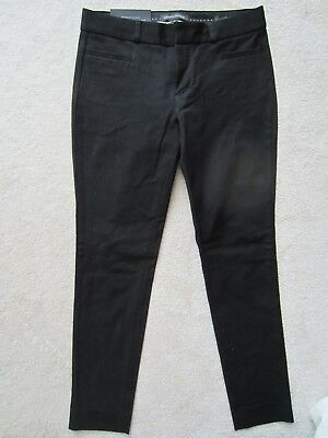 Womens Banana Republic Sloan Black Slim Skinny Pants Business Size 0 New Ankle