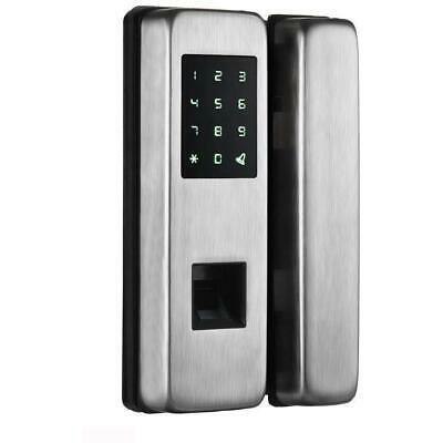Glass Door Fingerprint Lock- Stainless Steel for Office Home Automation Syste...