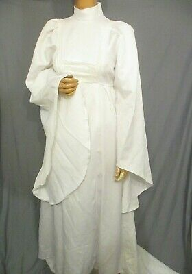 Vintage 70s 12 Druid Pagan Wedding Dress Hippy Boho Huge Draped Cuffs Long Train