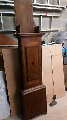 Grandfather clock, in parts, for repair or parts