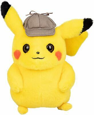Pokemon Detective Pikachu with Detective Hat Soft Toy Plush Stuffed Toy NEW