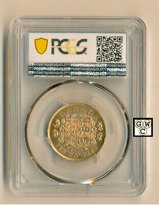1912 Canada $10 Gold Coin ; PCGS graded  MS64+
