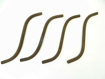 Antique Set Four Old Metal Gas Lamp Arms Lighting Parts Curved Bent Hardware