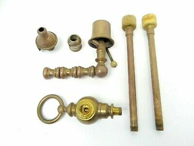 Mixed Vintage Lot Used Brass Metal Gas Valve Switch Flame Spreader Burners Parts