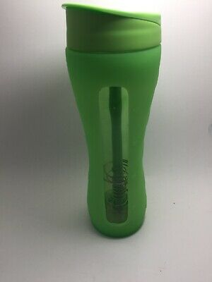 Shakeology Glass Shaker Cup Green Beachbody Coach Workout Water Bottle Silicone