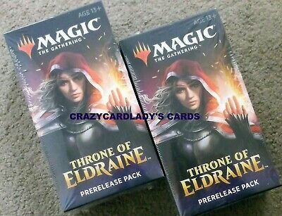 Magic Throne Of Eldraine Prerelease 2 Kit Pack Lot Same Day Priority Shipping