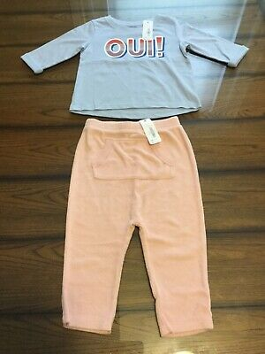 Gymboree 18-24 Months Girls Two Piece Outfit Fall Winter T-shirt & Pants