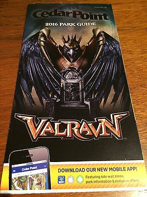 Cedar Point 2016 Park Map New Valravn