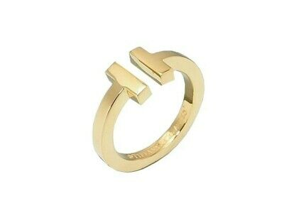 AUTHENTIC TIFFANY&CO. T Square Ring K18YG US6 $1913 Grade S USED -CJ