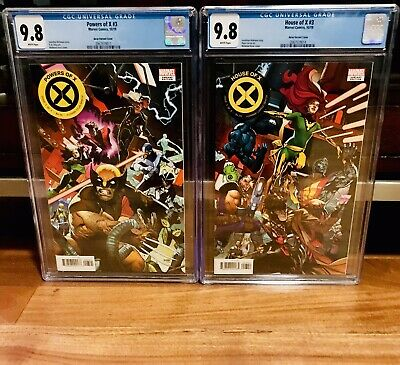 CGC 9.8 Powers Of X #3, House Of X 3 Asrar Connecting Variant SET NM Hickman