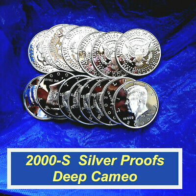 2000-S SILVER PROOF Kennedy  ⭐️ VIRTUALLY PERFECT ⭐️  Deep Cameo  ⭐️ R8362