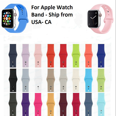 Replacement Silicone Sports Band Strap For Apple Watch Series 4/3/2/1 38mm 42mm
