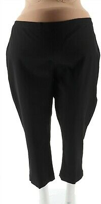 Isaac Mizrahi 24 / 7 Flattering Fit Stretch Ankle Pants Black 4P NEW A261791