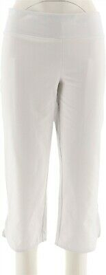 Women with Control Petite Tummy Control Crop Pants White PXS NEW A278777