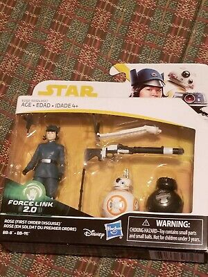 Star Wars Force Link 2.0 3 Pack Rose First Order Disguise BB-8 & BB-9E Disney