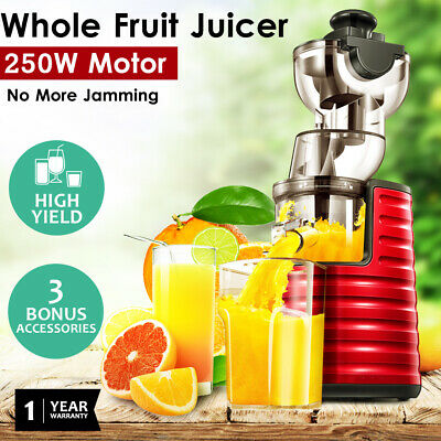 Cold Press Whole Fruit Slow Juicer Wide Mouth Vegetable Processor