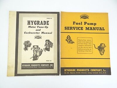 Vintage 1940 Hygrade Products Fuel Pump Service Manual Motor Tune-Up manual Old