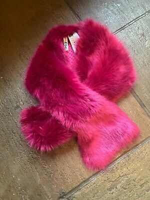 Lovely Girls H & M Fluffy Bright Pink Scarf