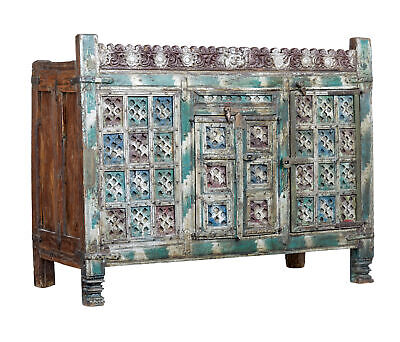 18Th Century Carved Hardwood Nepalese Cabinet