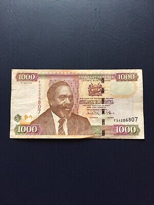 1000 Denomination Kenyan Shilling  Bank Note. Ideal For An Avid Note Collector.