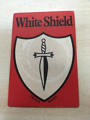 Vintage WORTHINGTON'S WHITE SHIELD Beer Mat Coaster Man Cave Free P&P