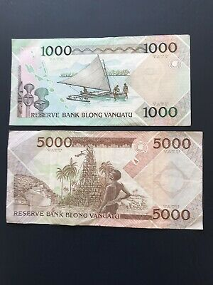 Various Denomination Vanuatu Bank Notes. Ideal For An Avid Note Collector.