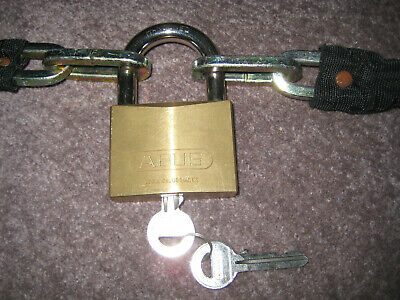 ABUS 85/70 padlock/Chain Motorcycle Scooter High Level Security