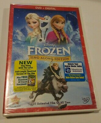 Frozen (DVD 2014, Sing-Along Edition Digital Copy) BRAND NEW