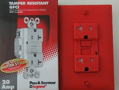 Pass Seymour 20A Duplex Receptacle Tamper Resistant Gfci 2094-Trred