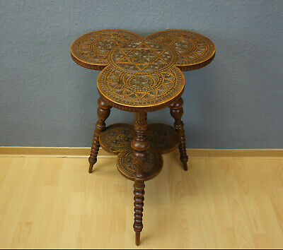 Antique jewish wood table around 1900 handcarved judaica tavolo tisch שולחן