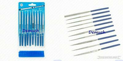 New Silverline DIAMOND NEEDLE FILE SET Precision Jewellers Jewellery Metal 140mm
