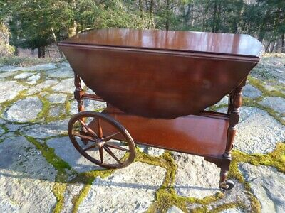 Vintage Mahogany Tea Cart