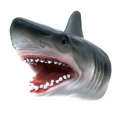 Shark Hand Puppet Soft Gift Great Kids Toy  For jaws Cake Decoration Topper