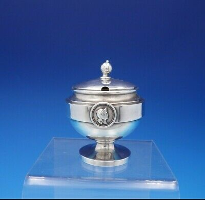 Medallion by John Wendt Sterling Silver Mustard Pot with Lid GW Interior (#3704)
