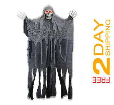 Screaming Ghost for Hanging Halloween Decoration for Haunted House Prop 5.6 ft