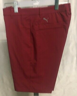 Puma Golf Jackpot Mens Shorts - Rhubarb Red - New with Tags - 2019 Style